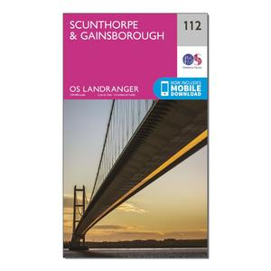 ORDNANCE SURVEY Landranger 112 Scunthorpe & Gainsborough Map With Digital Version