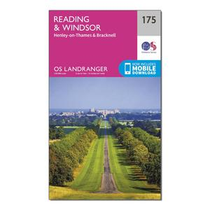 ORDNANCE SURVEY Landranger 175 Reading, Windsor, Henley-on-Thames & Bracknell Map With Digital Version