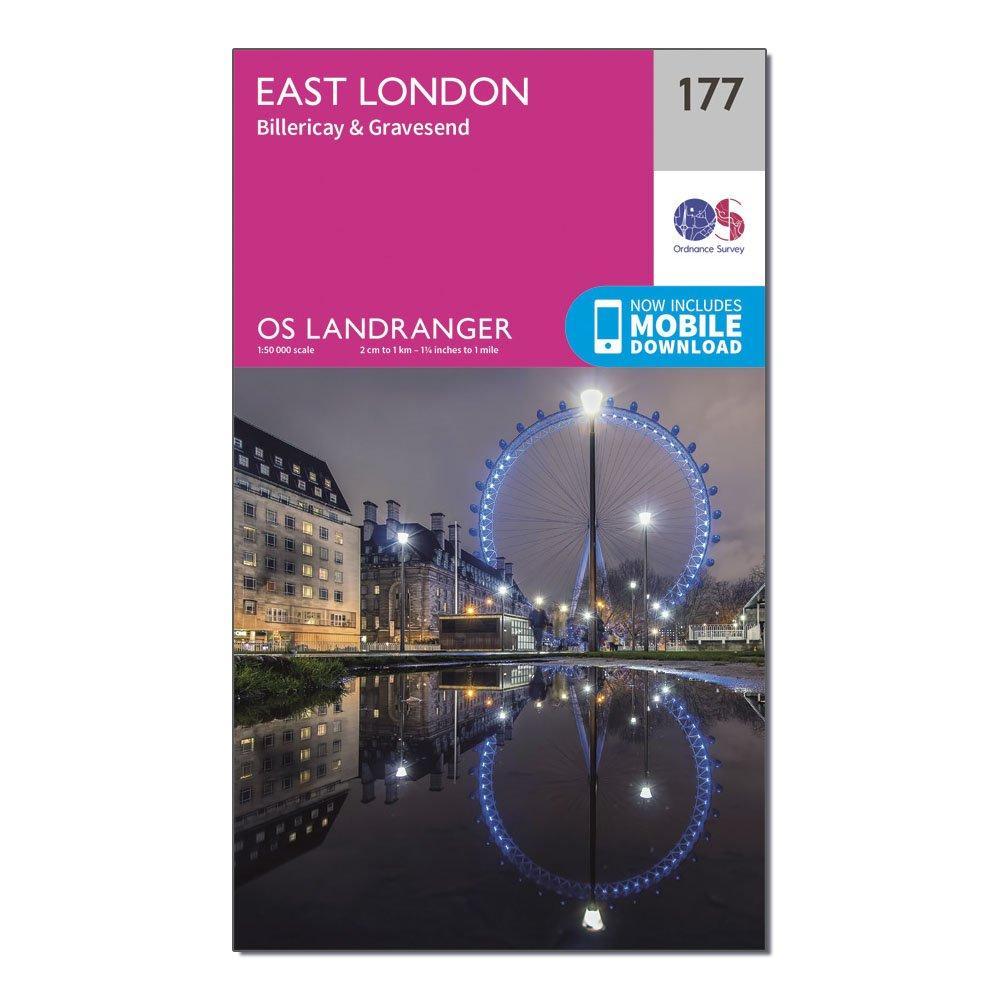 Ordnance Survey Landranger 177 East London  BillericayandGravesend Map With Digital Version - Pink/d  Pink/d