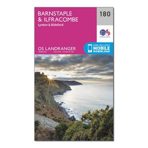 ORDNANCE SURVEY Landranger 180 Barnstaple & Ilfracombe, Lynton & Bideford Map With Digital Version