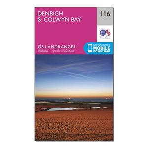 ORDNANCE SURVEY Landranger 116 Denbigh & Colwyn Bay Map With Digital Version