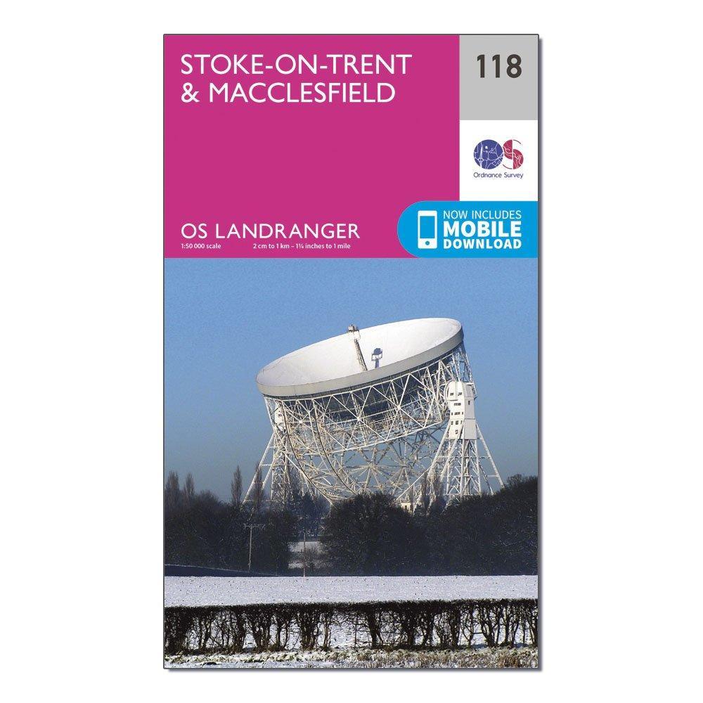Ordnance Survey Landranger 118 Stoke-on-trentandMacclesfield Map With Digital Version - Pink/d  Pink/d