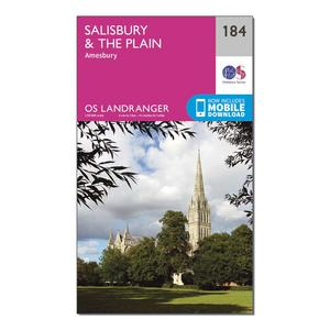 ORDNANCE SURVEY Landranger 184 Salisbury & The Plain, Amesbury Map With Digital Version