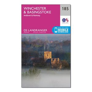 ORDNANCE SURVEY Landranger 185 Winchester & Basingstoke, Andover & Romsey Map With Digital Version