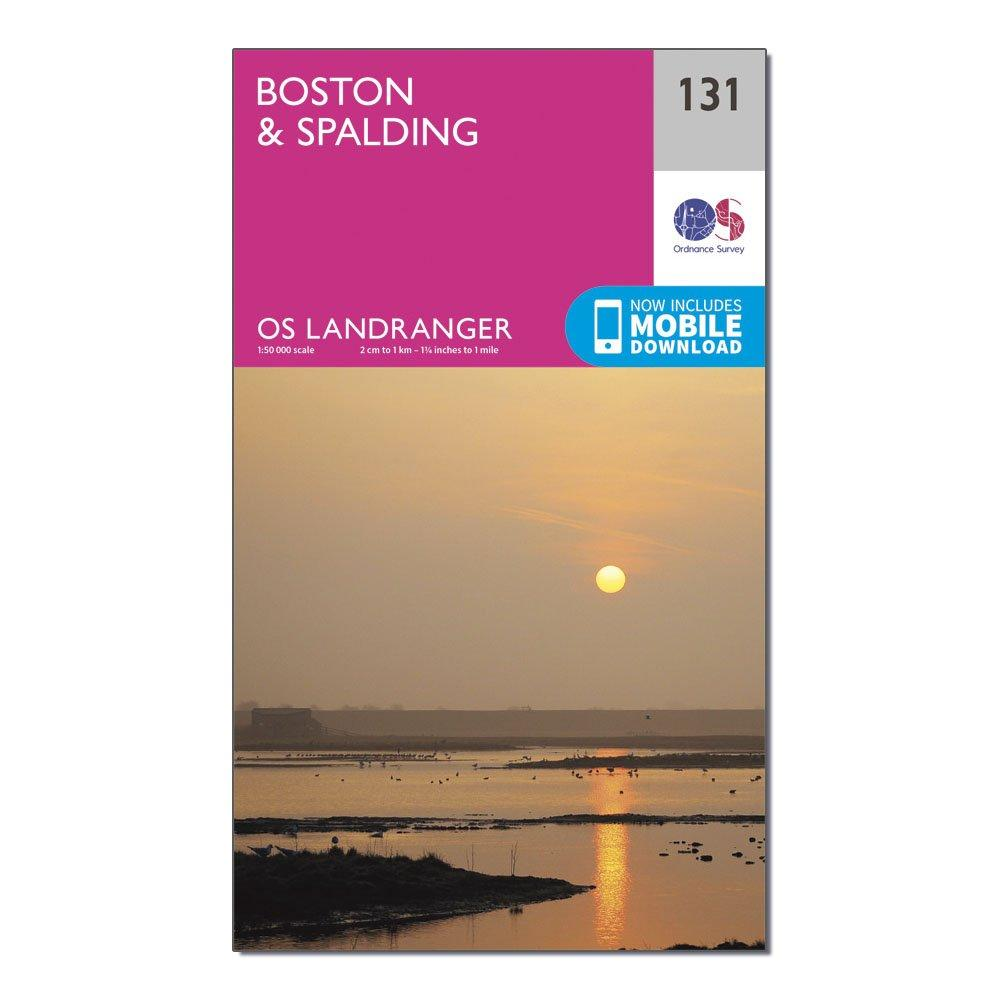 Ordnance Survey Landranger 131 BostonandSpalding Map With Digital Version - Pink/d  Pink/d