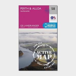 ORDNANCE SURVEY Landranger Active 58 Perth & Alloa, Auchterarder Map With Digital Version
