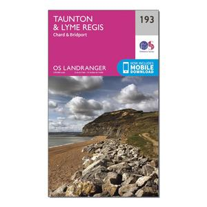 ORDNANCE SURVEY Landranger 193 Taunton & Lyme Regis, Chard & Bridport Map With Digital Version