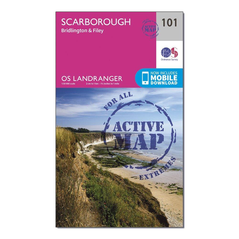 Ordnance Survey Landranger Active 101 Scarborough  BridlingtonandFiley Map With Digital Version - D/d  D/d