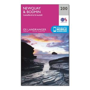 ORDNANCE SURVEY Landranger 200 Newquay & Bodmin, Camelford & St Austell Map With Digital Version