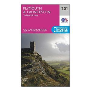 ORDNANCE SURVEY Landranger 201 Plymouth & Launceston, Tavistock & Looe Map With Digital Version