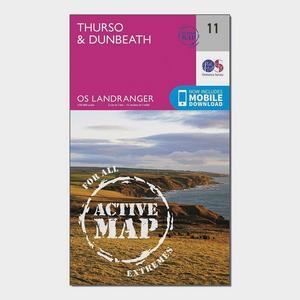 ORDNANCE SURVEY Landranger Active 11 Thurso & Dunbeath Map With Digital Version