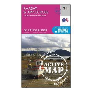 ORDNANCE SURVEY Landranger Active 24 Raasay & Applecross, Loch Torridon & Plockton Map With Digital Version