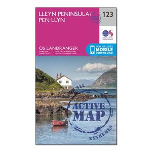 ORDNANCE SURVEY Landranger Active 123 Lleyn Peninsula Map With Digital Version