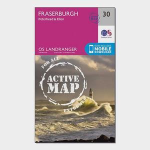 ORDNANCE SURVEY Landranger Active 30 Fraserburgh, Peterhead & Ellon Map With Digital Version