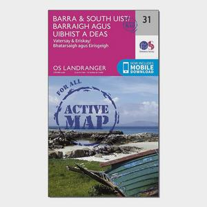ORDNANCE SURVEY Landranger Active 31 Barra & South Uist, Vatersay & Eriskay Map With Digital Version
