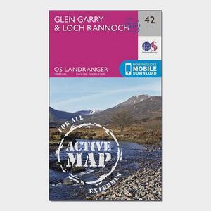 ORDNANCE SURVEY Landranger Active 42 Glen Garry & Loch Rannoch Map With Digital Version
