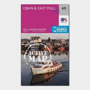 ORDNANCE SURVEY Landranger Active 49 Oban & East Mull Map With Digital Version