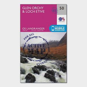 ORDNANCE SURVEY Landranger Active 50 Glen Orchy & Loch Etive Map With Digital Version