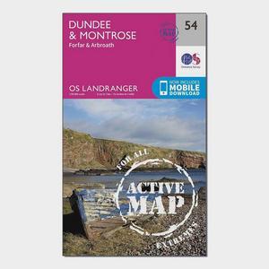 ORDNANCE SURVEY Landranger Active 54 Dundee & Montrose, Forfar & Arbroath Map With Digital Version