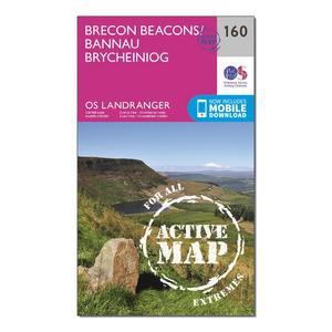 ORDNANCE SURVEY Landranger Active 160 Brecon Beacons Map With Digital Version