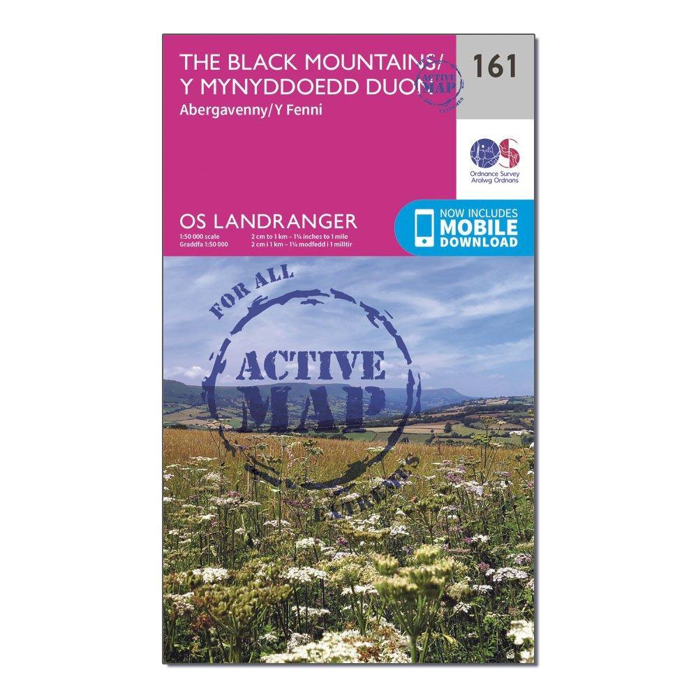 Ordnance Survey Landranger Active 161 The Black Mountains Map With Digital Version - Pink/d  Pink/d
