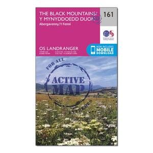 ORDNANCE SURVEY Landranger Active 161 The Black Mountains Map With Digital Version