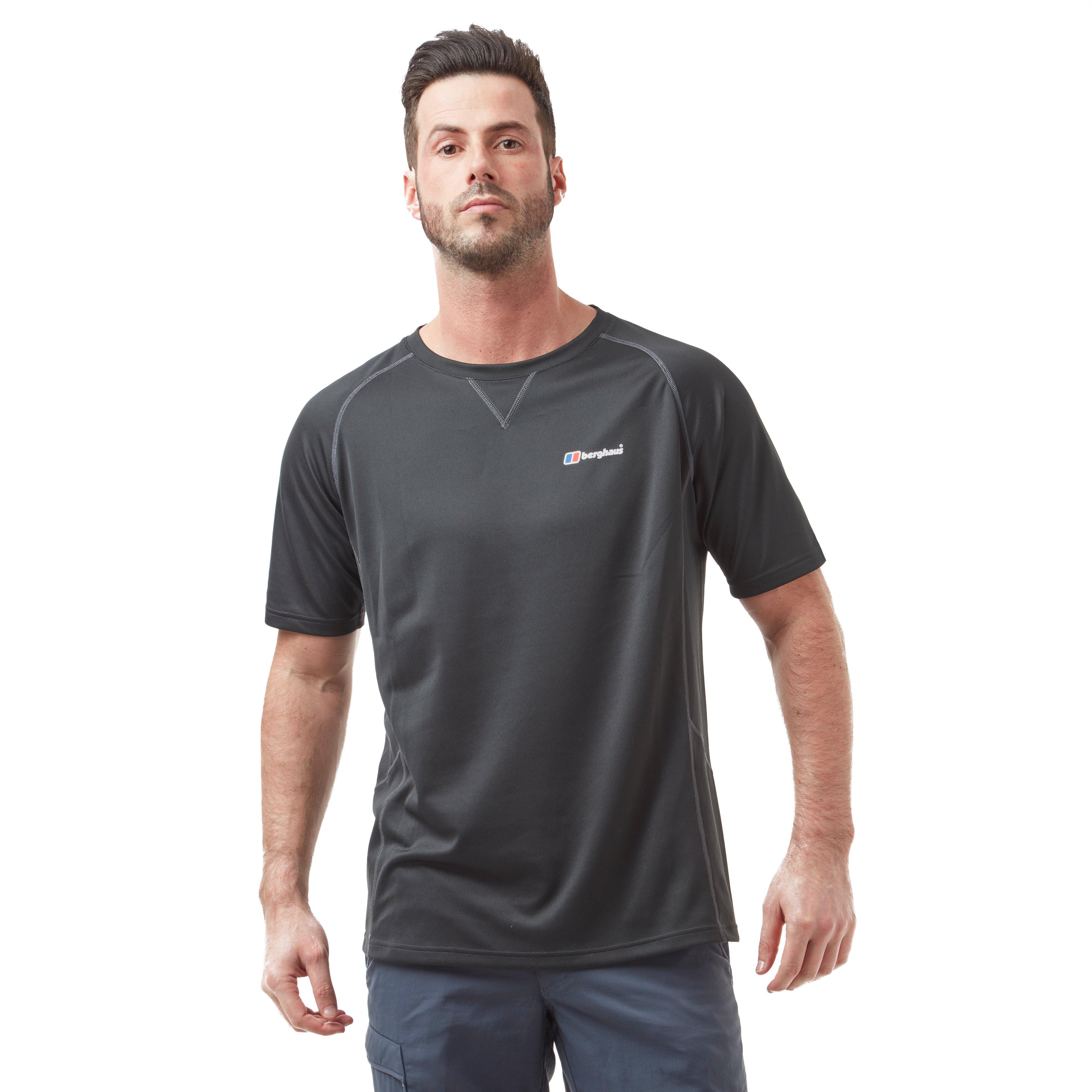 Berghaus Mens Short Sleeve Crew 2.0 T-shirt - Black  Black