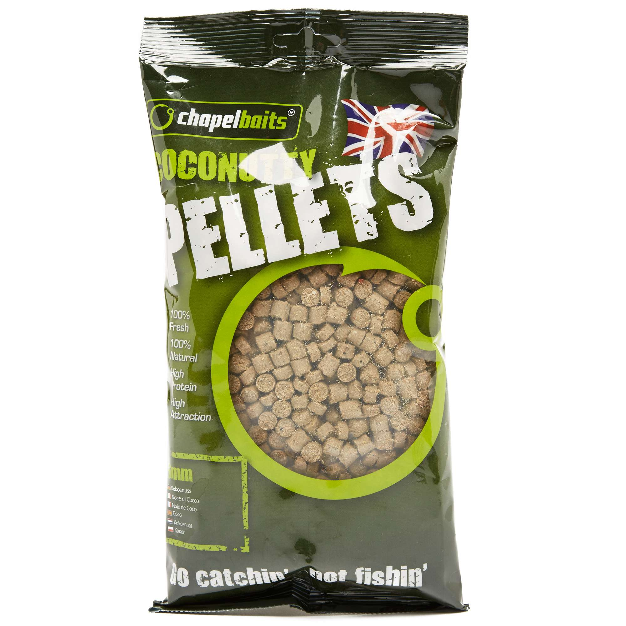 CHAPEL BAITS 6mm Coconutty Pellets, 500g