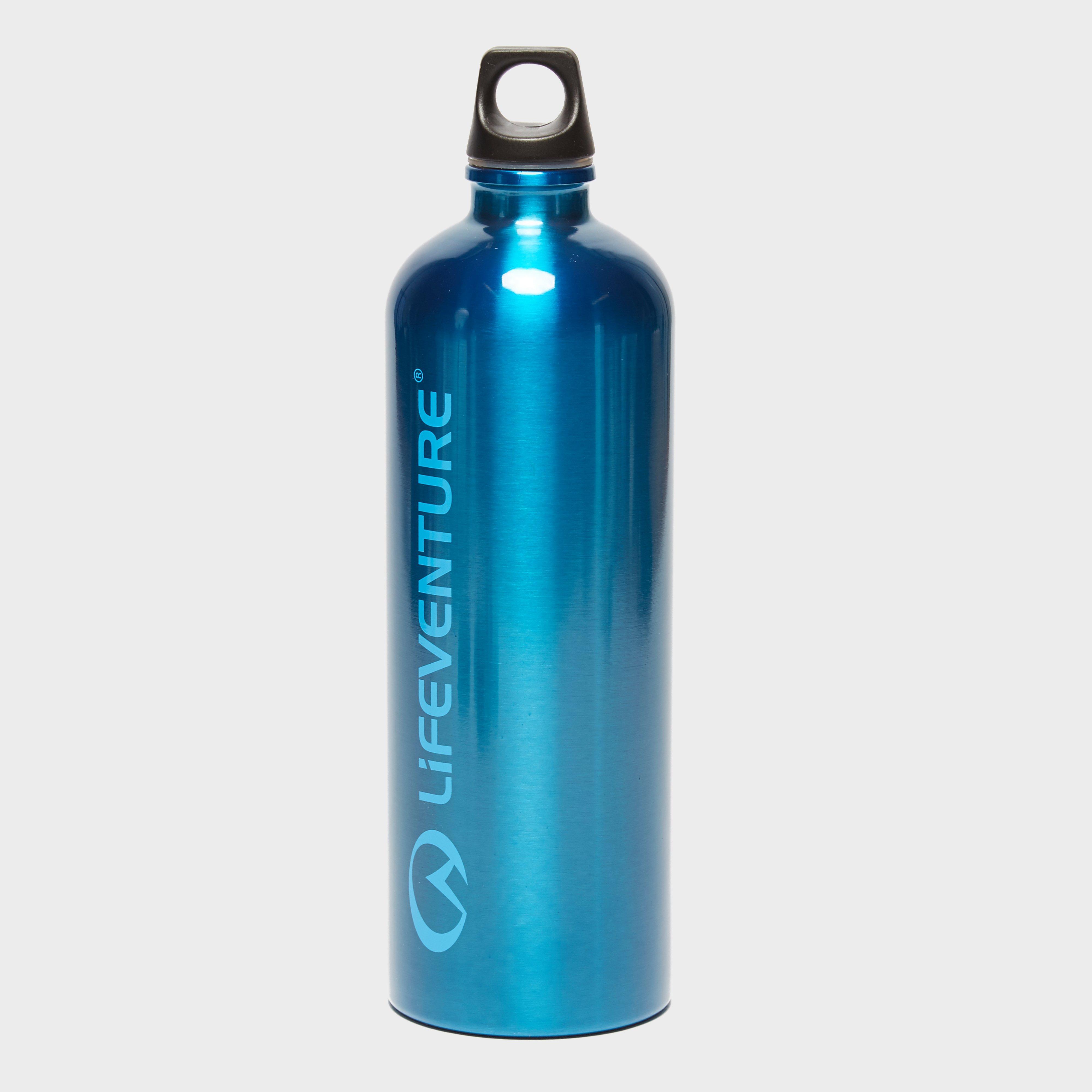 Lifeventure Stainless Steel 1L Bottle, Blue
