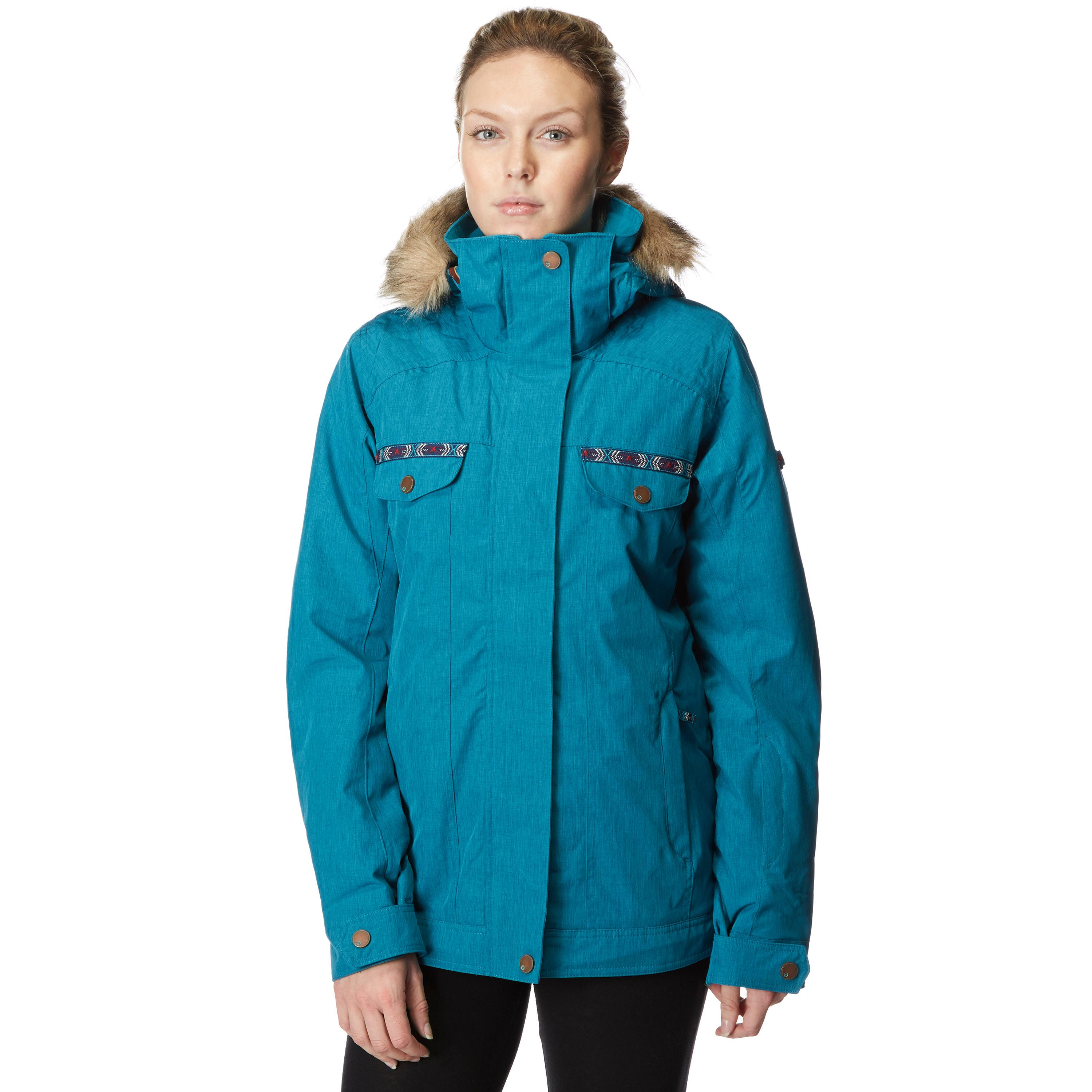 Roxy Women's Misti Snowboard Jacket, Blue