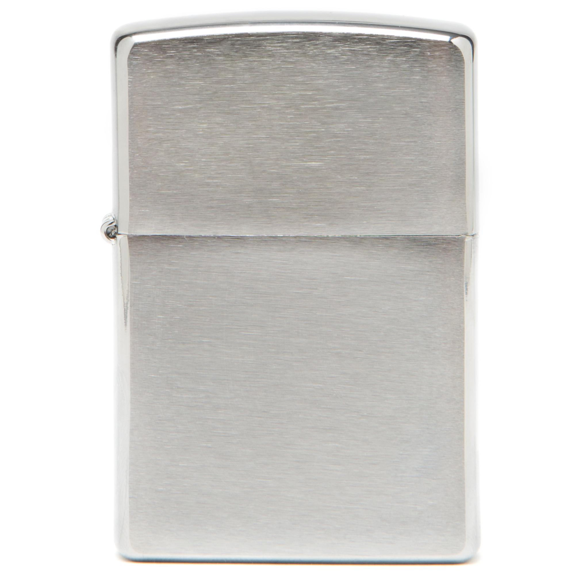 Zippo Brushed Chrome Lighter Silver