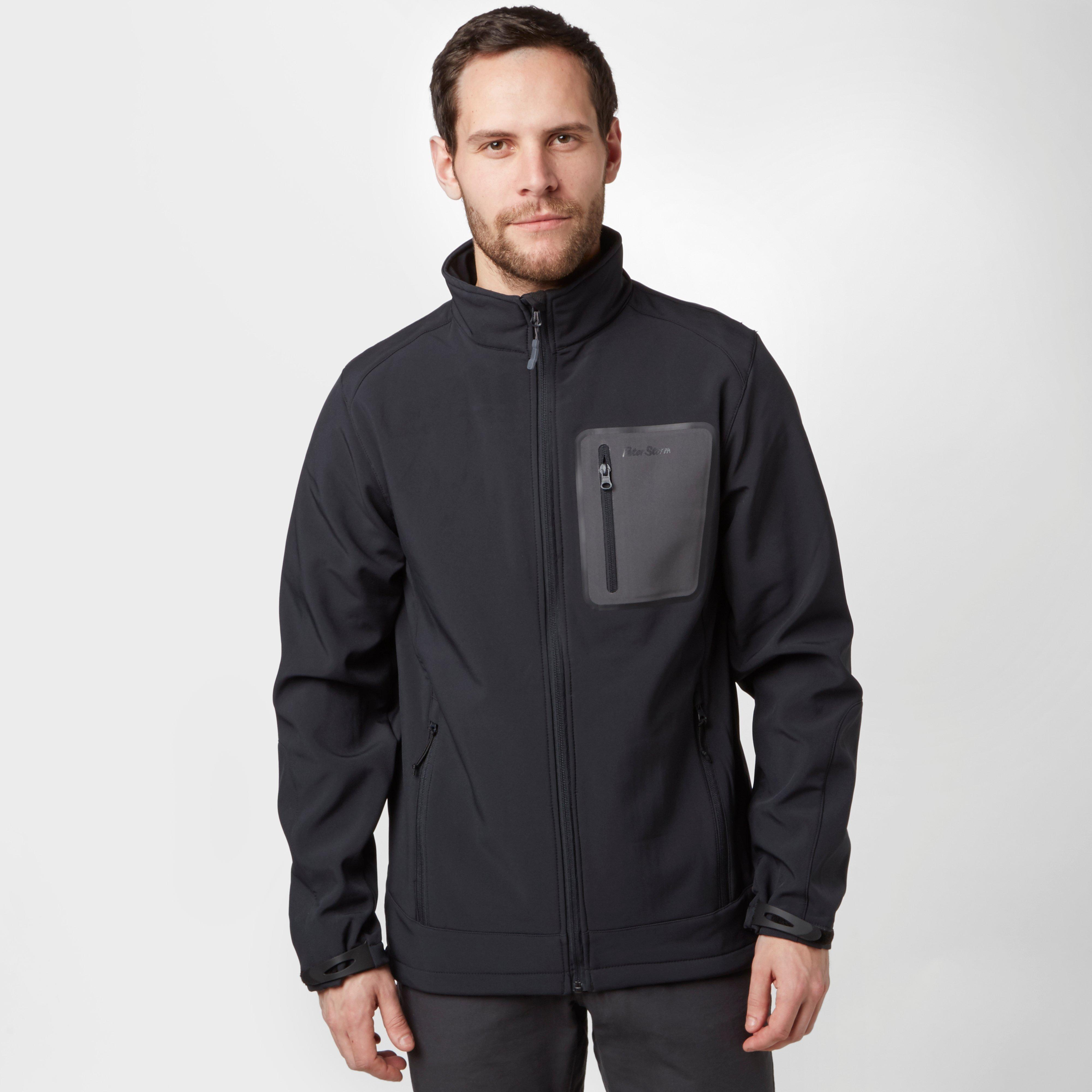 Peter Storm Men's Bonded Softshell Jacket, Black