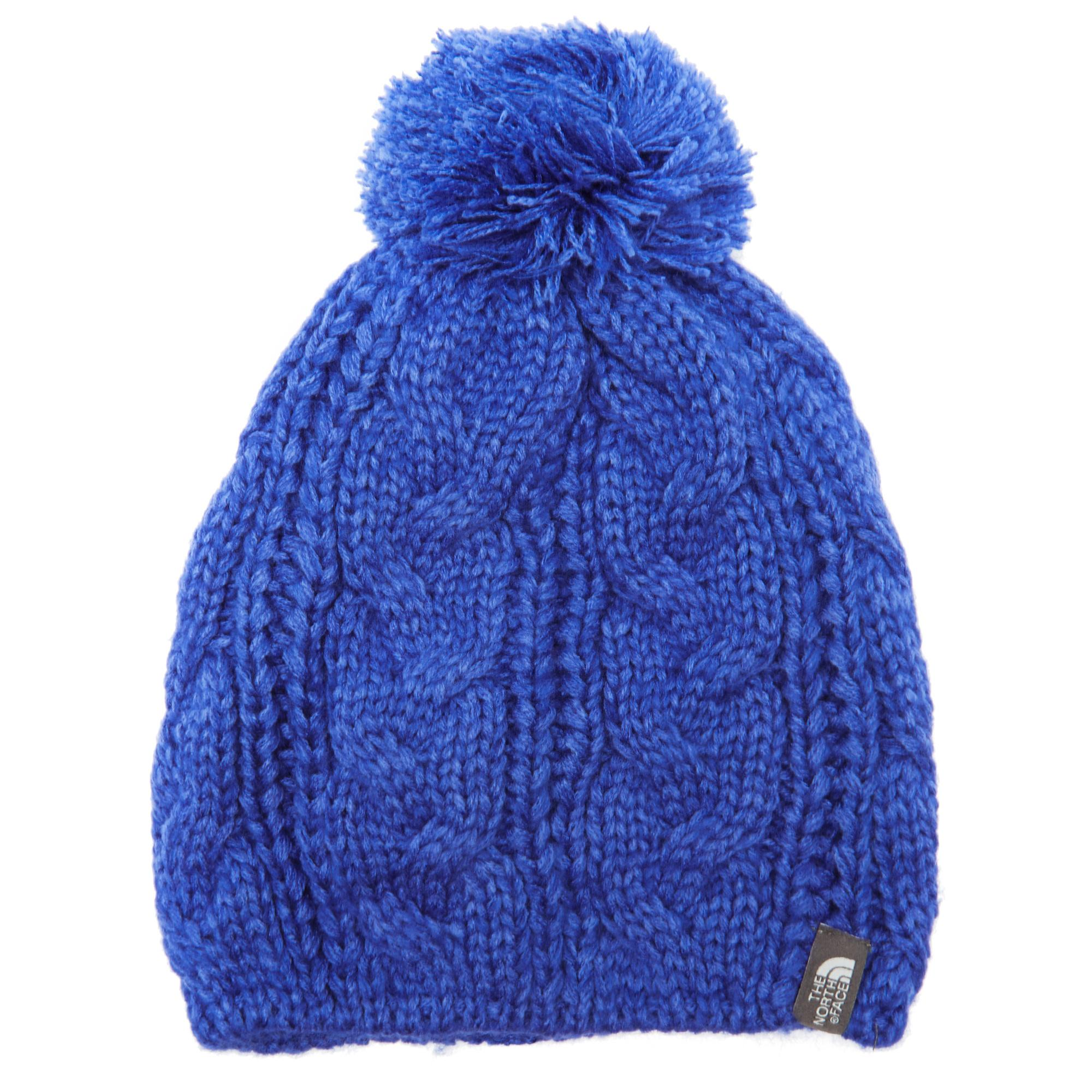 The North Face Womens Bigsby PomPom Beanie Blue