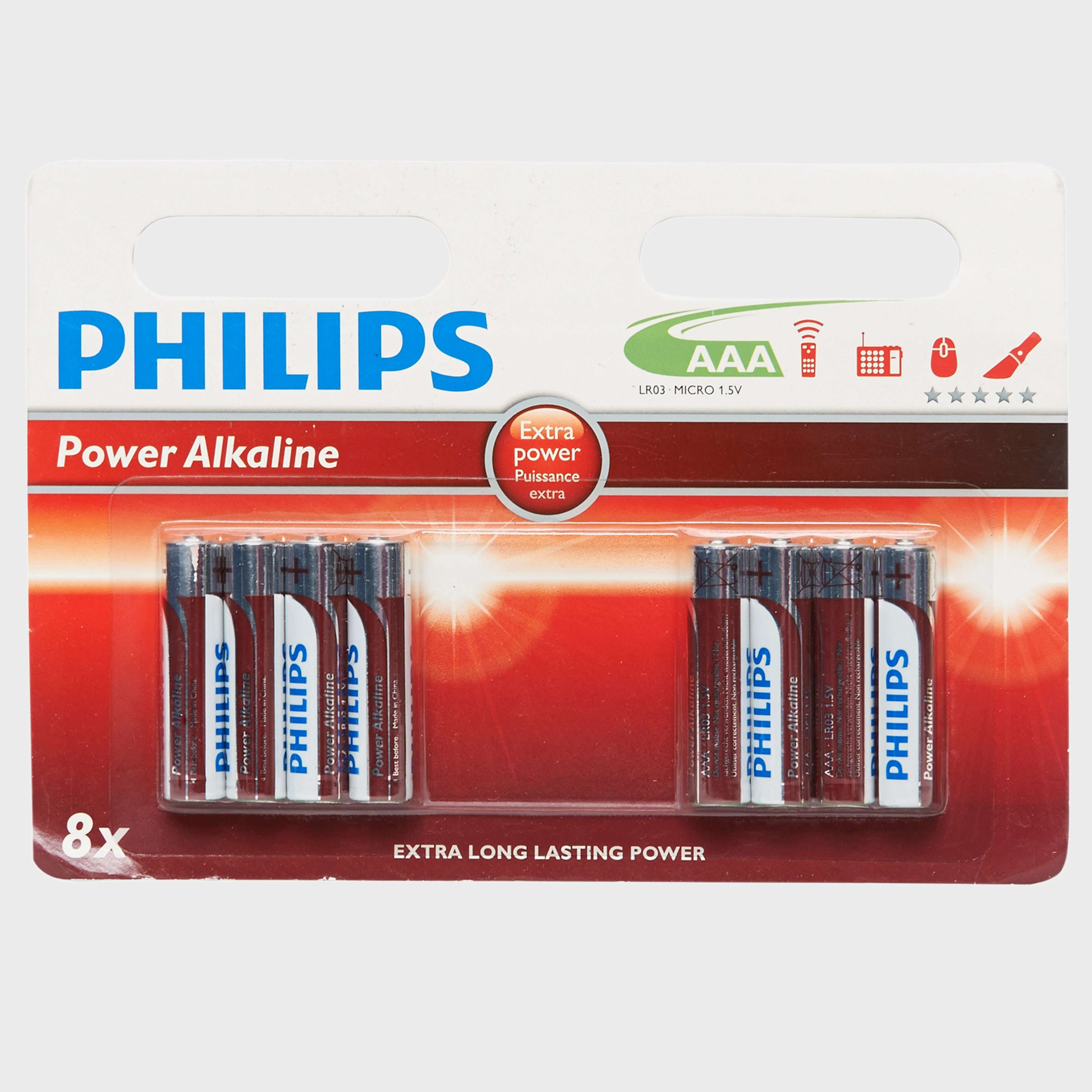 PHILLIPS Ultra Alkaline AAA LR03 Batteries 8 Pack