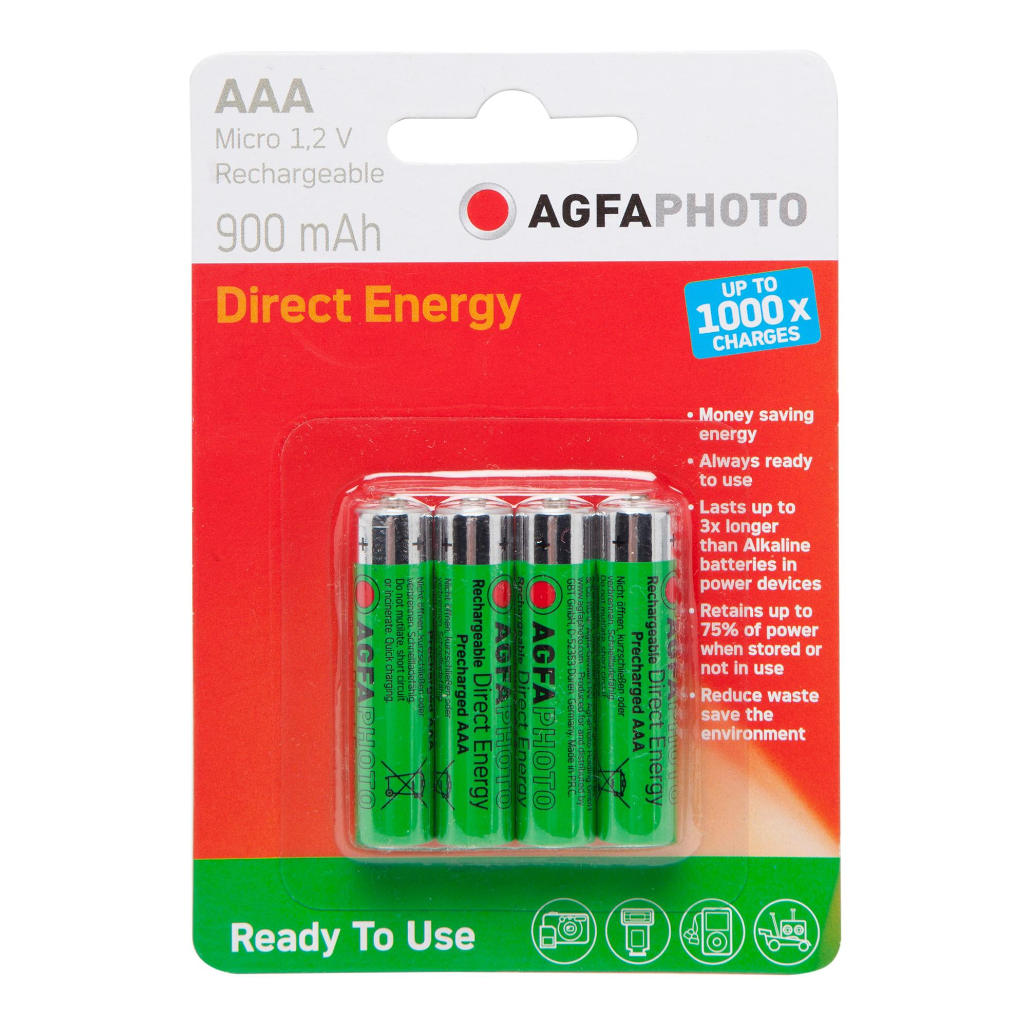 Image of Agfa Rechargeable AAA 1.2V Batteries 4 Pack