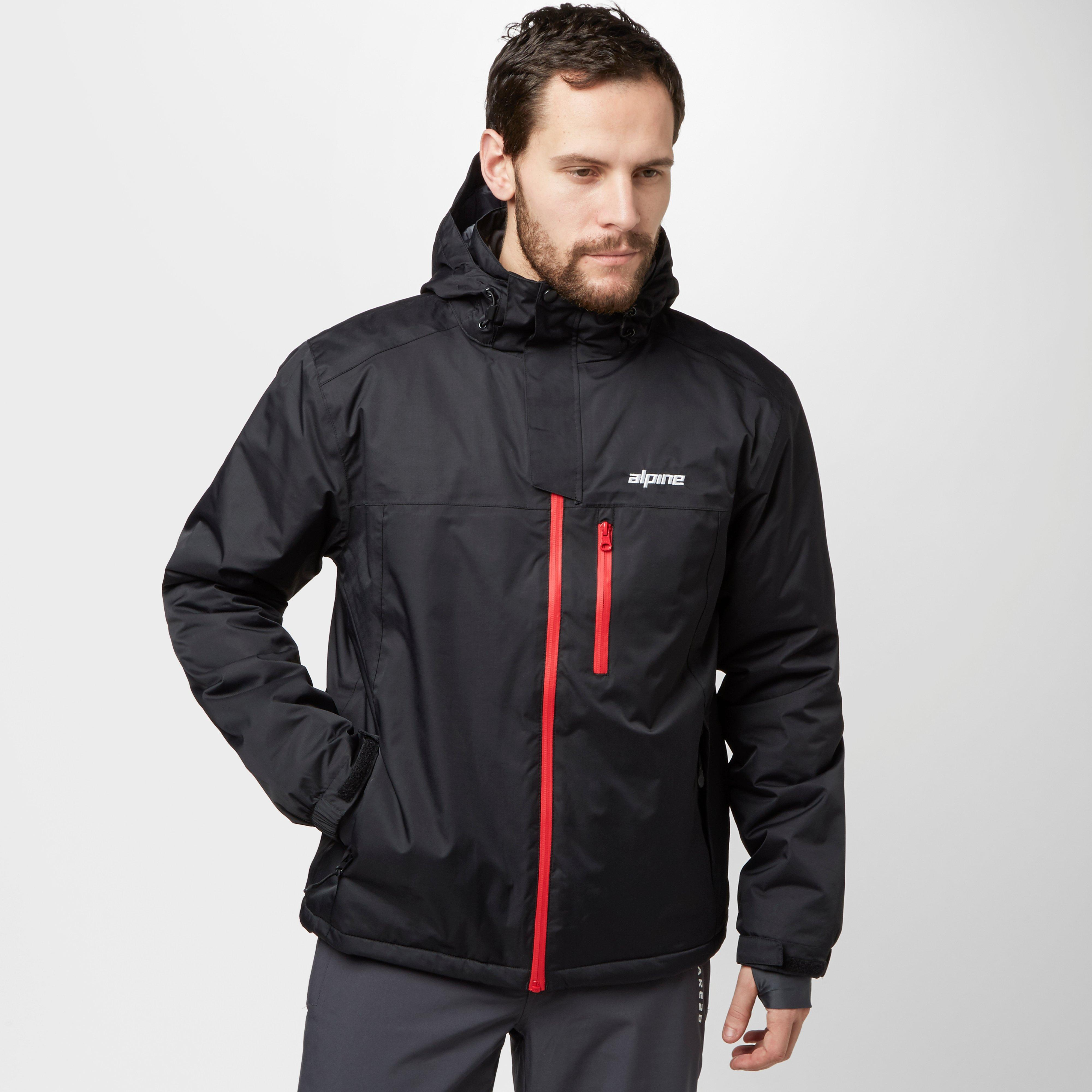 Alpine Mens Meribel Waterproof Ski Jacket Black