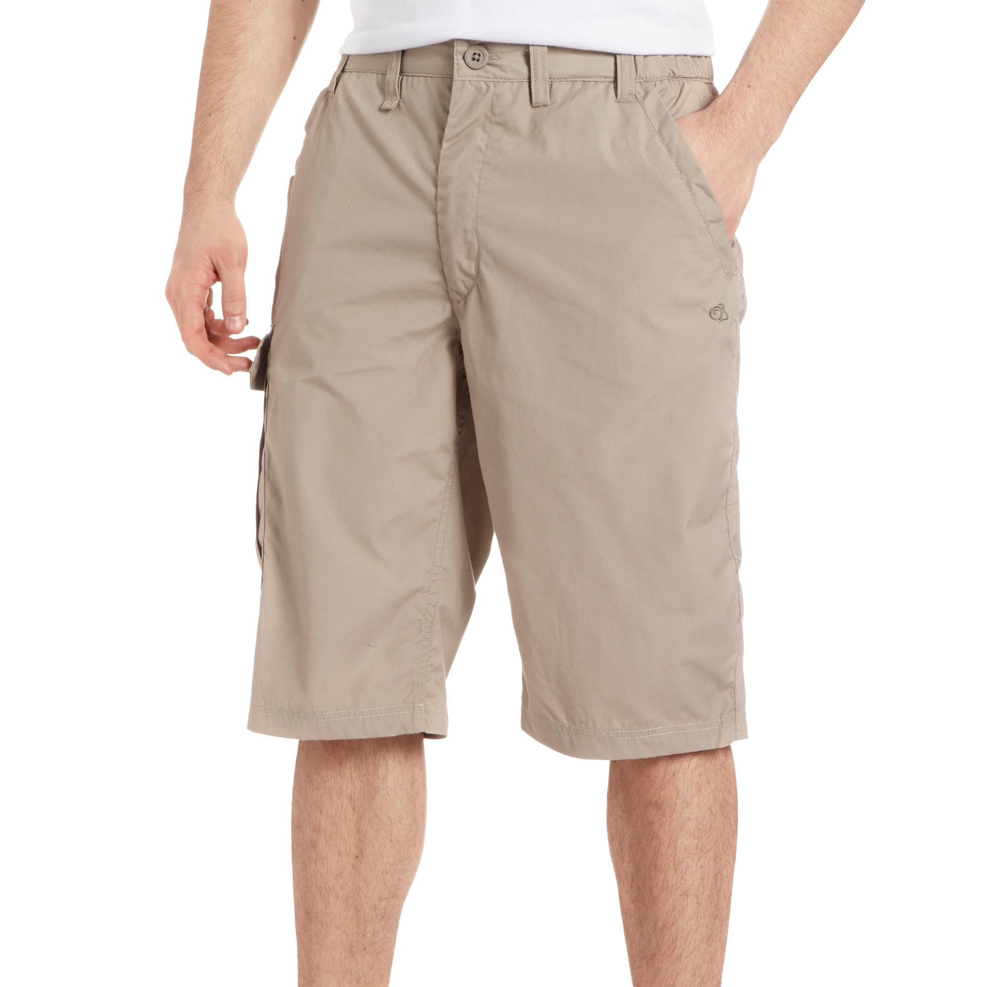 Craghoppers Mens Kiwi Long Shorts Beige