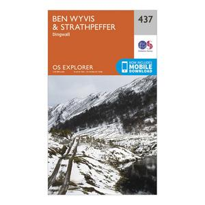 ORDNANCE SURVEY Explorer 437 Ben Wyvis & Strathpeffer Map With Digital Version