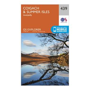 ORDNANCE SURVEY Explorer 439 Coigach & Summer Isles Map With Digital Version