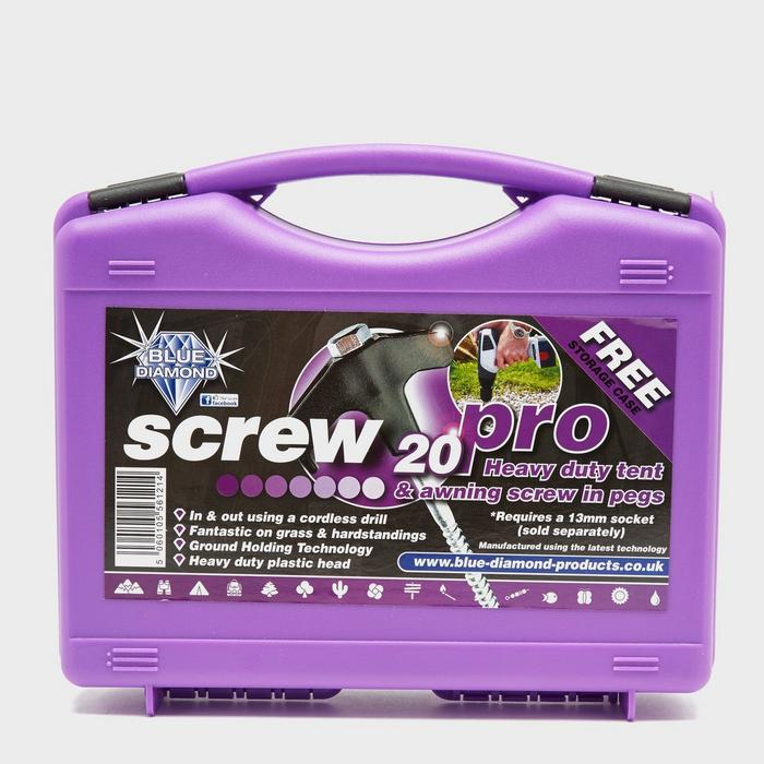 Screw Tent Pegs  20 pack