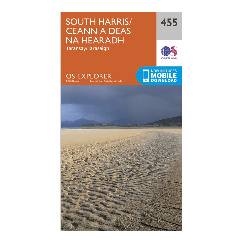 Ordnance Survey Explorer 455 South Harris Map With Digital Version - Orange/d  Orange/d