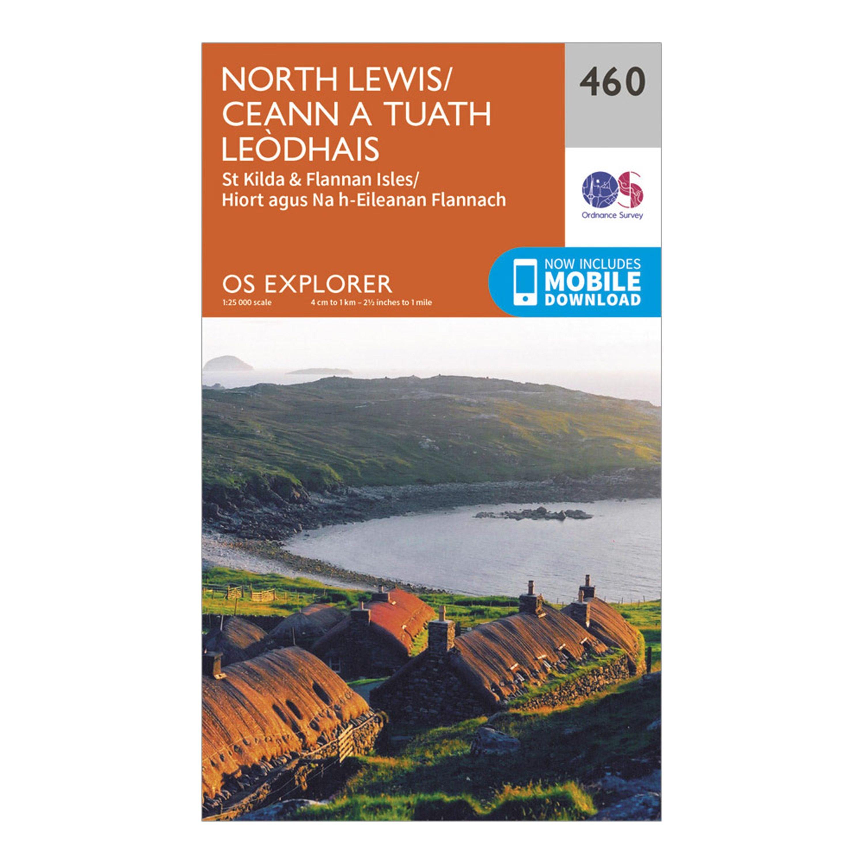 Ordnance Survey Explorer 460 North Lewis Map With Digital Version - Orange  Orange
