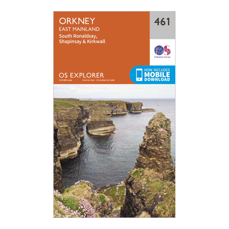 Ordnance Survey Explorer 461 Orkney   East Mainland Map With Digital Version - Orange/black  Orange/black