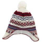 Girls' Jacquard Ear Flap Hat