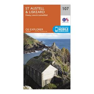 ORDNANCE SURVEY Explorer 107 St Austell & Liskeard Map With Digital Version