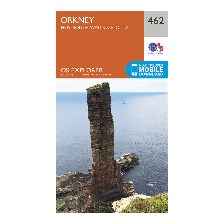 Ordnance Survey Explorer 462 Orkney Map With Digital Version - Orange/orange  Orange/orange