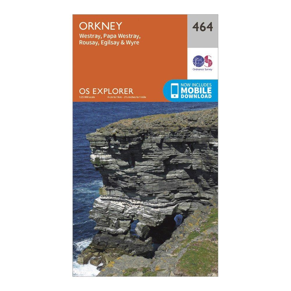 Ordnance Survey Explorer 464 Orkney Map With Digital Version - Orange  Orange