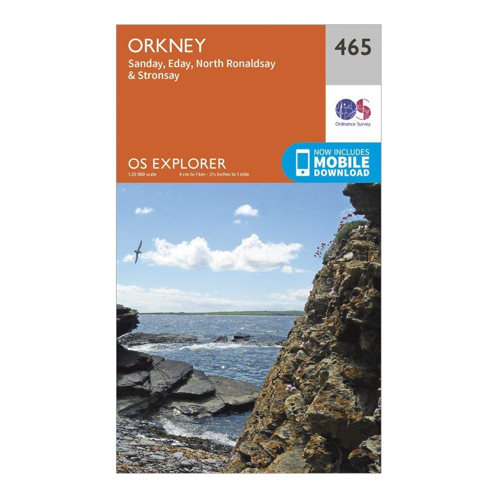 Ordnance Survey Explorer 465 Orkney Map With Digital Version - Orange  Orange
