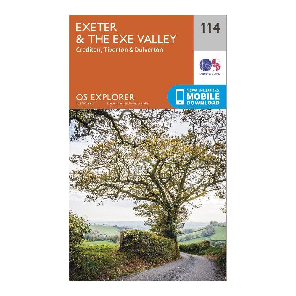 Ordnance Survey Explorer 114 Exeter & The Exe Valley Map With Digital Version, Orange/D