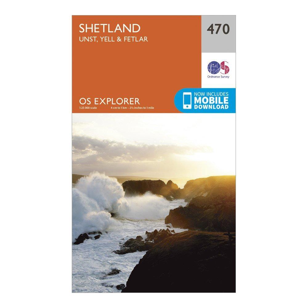 Ordnance Survey Explorer 470 Shetland   Unst  YellandFetlar Map With Digital Version - Orange/d  Orange/d